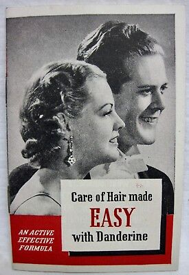Vintage 1938 Danderine Hair Care Instruction Booklet