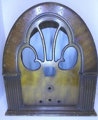 PHILCO Cabinet Wood Case Wooden Cathedral Tube RADIO Model 70 90