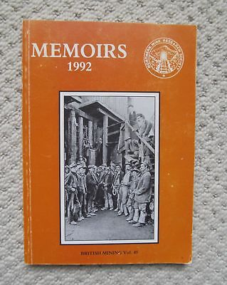 BRITISH MINING MEMOIRS 1992 Northern Mine Research Society.Research Articles etc