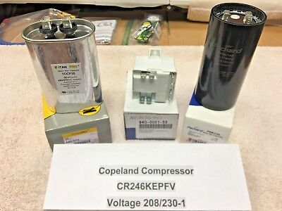 Copeland Compressor, CR246KEPFV, Voltage 208/230-1, Start Component Kit