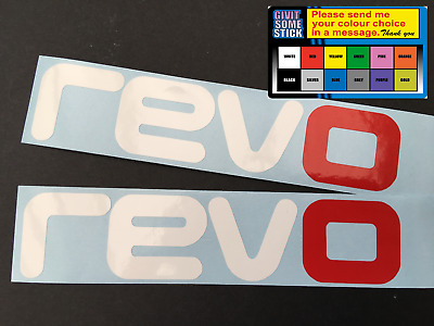 2 x REVO - Stickers Decals Adhesives  150 mm x 33 mm