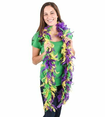 Lumistick Purple Green & Gold Boa with Gold Tinsel 1 Piece