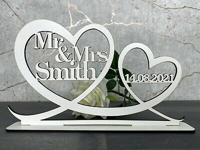 Personalised Mr & Mrs Top Table Sign & Date Mr and Mrs Wedding Decoration Gift