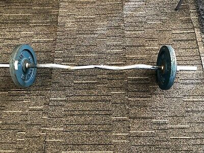 Curved Curl Dumbell Bar Barbell Weights 7.5kg 5kg