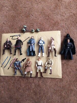 Lot Of Star Wars Action Figures & Weapons Low Postage