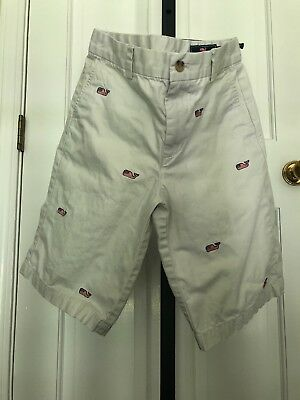 Boy's Vineyard Vines American Flag Whale Embroidered Breaker Shorts Size 14