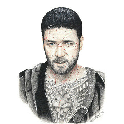 GLADIATOR MAXIMUS RUSSELL CROWE MODERN ICONIC CANVAS PRINT PICTURE Art Williams