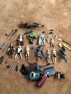 Lot Of Star Wars Action Figures Spares & Weapons Rockets Low Postage Lot B