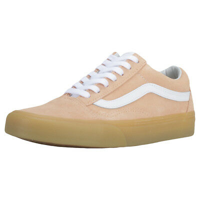 Vans Old Skool Double Light Gum Womens Apricot Suede Trainers