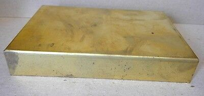"""Rectangle Square Sconce Back Plate Solid Brass 5""""  X 3 3/8"""""""