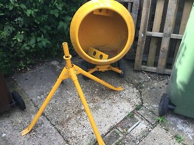 Belle Minimix 130 ltr Tip Up 240v Concrete Mixer with Stand