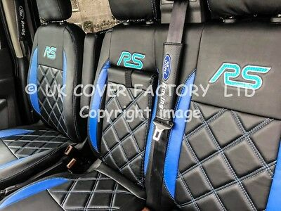 MERCEDES SPRINTER VW CRAFTER 06+VAN SEAT COVER GREY STITCH CLOTH P40GY IN STOCK
