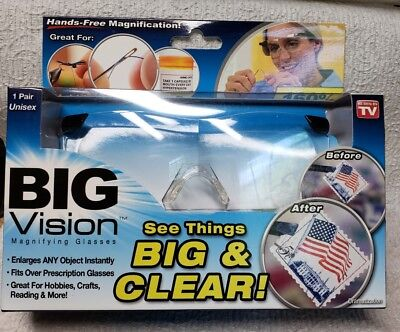Big Vision Magnifying Glasses - 160% Magnification - Hands Free - 1 Pair