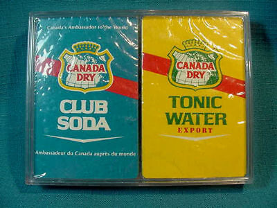 Vintage MIB Sealed Set Unopened CANADA DRY Club Soda & Tonic Water PLAYING CARDS