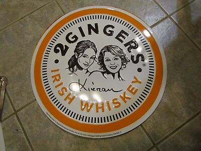 2 Gingers Irish Whiskey Metal Sign, New