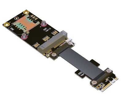 NGFF M.2 Key A+E to mPCIe mini PCIe Adapter Cable , R56SF