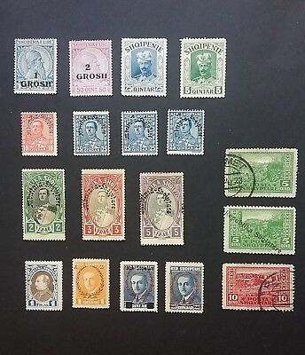 Albania 1914 - 1929 stamps