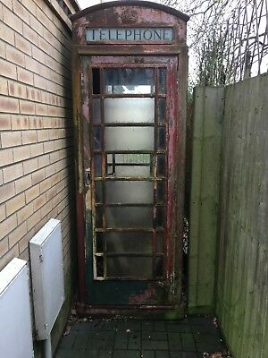 Red Telephone Box In Need Of Restoration