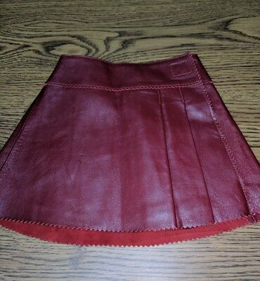 BABY GAP Red Leather Skirt Size 6-12 Months NWT