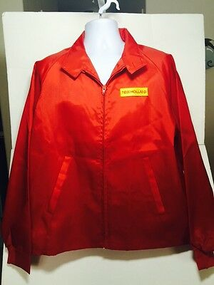 VTG New Holland Swingster Sperry Ford Twin Rotor Combine Jacket Sz XL Red Zip Up