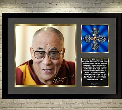 Dalai Lama signed poster autographed photo With frame picture FOR HAPPINESS
