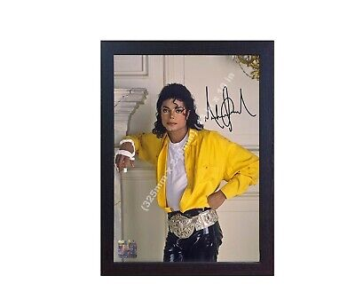 Michael Jackson the king of pop signed autograph photo print Framed- MDF