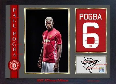 Paul Pogba signed autograph Manchester United photo Framed