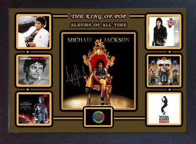 Michael Jackson signed autograph FRAMED photo print Top 6 Albums of all time