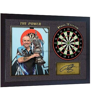 Phil Taylor The Power Autograph signed photo print Darts Framed