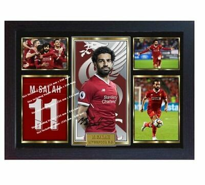 Mohamed Salah Liverpool signed MO SALAH print photo picture poster Framed