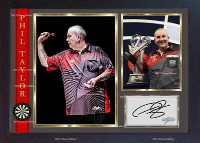 Phil Taylor The Power autograph signed photo print Legend Darts FRAMED