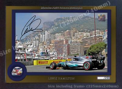 Lewis Hamilton formula signed autograph print photo poster Framed MDF 0014