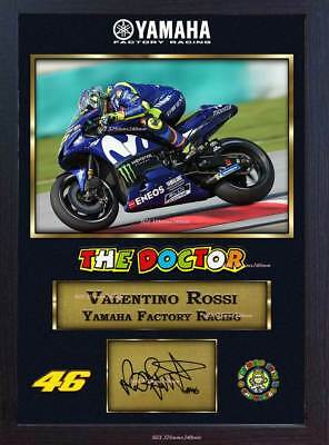 *** Valentino Rossi Superbikes autograph print signed photo picture FRAMED MDF