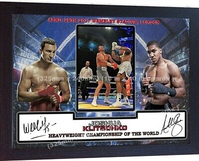 ANTHONY JOSHUA KLITSCHKO signed autographed Boxing Wembley London Framed