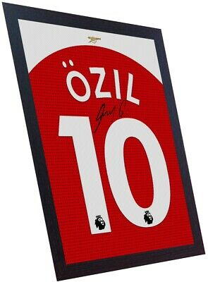 363f4fc0e Mesut Ozil signed autograph Arsenal t shirt Framed Printed on CANVAS 100%  COTTON