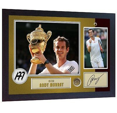 ANDY MURRAY signed autograph Tennis photo print andy murray Framed