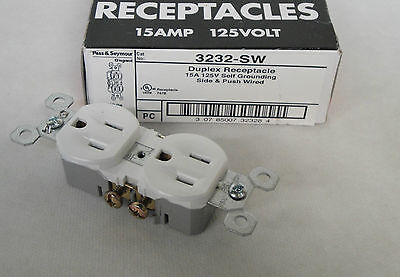 New Pass & Seymour Legrand 3232-Sw Duplex Receptacle 15 Amp 125V White