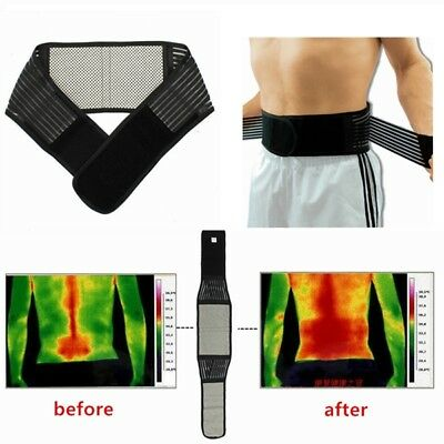 Tourmaline Magnetic Therapy Lower Back Waist Support Belt Self Heating Backache