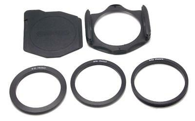 """Original Cokin """"A"""" Filter Holder With 52, 55 and 62mm Adaptor Rings Made France"""