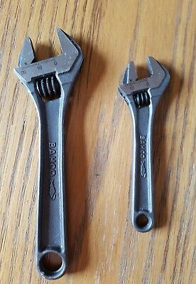 bahco adjustable spanner set 4 and 6 inch