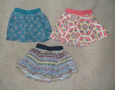 Tea Collection set of 3 skorts skirts - coral navy, turquoise - size 3 - VGUC