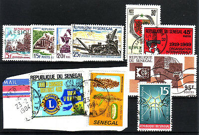 Senegal 1964/1972 Lot Of 10 Used Stamps