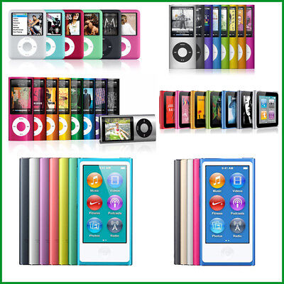 Apple iPod Nano 1st, 2nd, 3rd, 4th, 5th, 6th, 7th, 8th Generation 4GB, 8GB, 16GB