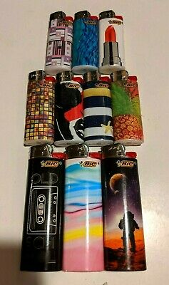 5 Lighters Special Edition Full size Bic Lighters New Assorted Disposable
