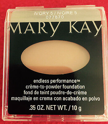 2 Mary Kay Creme to Powder IVORY 5 (Formerly Beige 2) Foundation LOT OF 2 New!