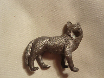 Vintage Wolf Small Pewter Figurine Spoontiques