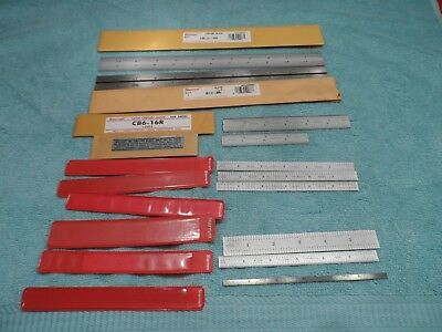 "Machinist Tools: Lot of 10 Starrett Rules 4"", 6"" & 12"", Combination & Other, NOS"