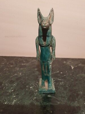 Rare Antique Ancient Egyptian Statue God Anubis mummify&cemetris Grav1850-1760BC