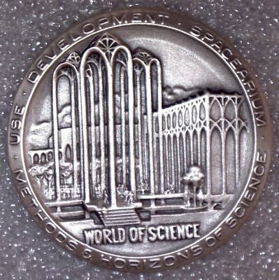 1962 Seattle World's Fair *** WORLD of SCIENCE *** SCD *** .999 SILVER