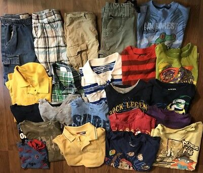boys Summer play clothes shorts tees Sz 5/6 And 6/7 Lot Of 24 Carters